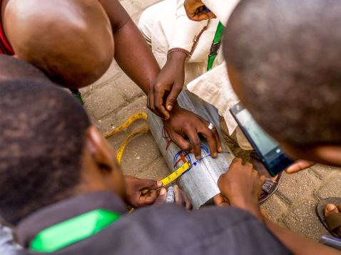 Youths in Nigeria training
