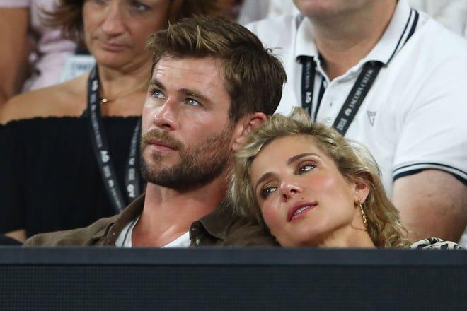 Chris Hemsworth with wife