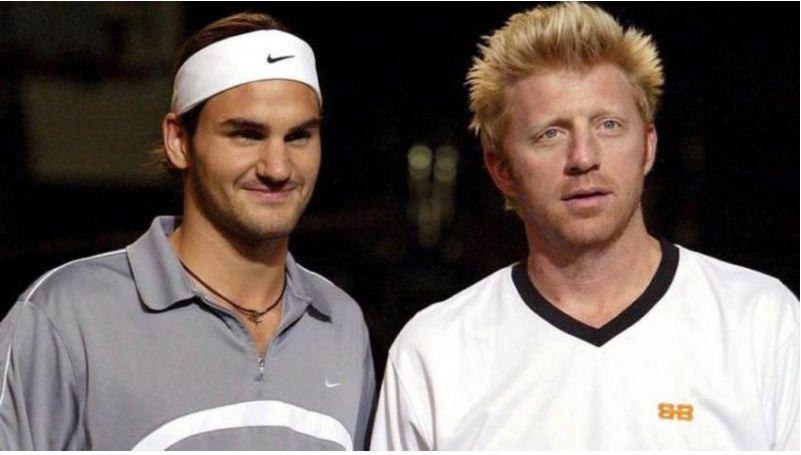 Roger Federer and Boris Becker