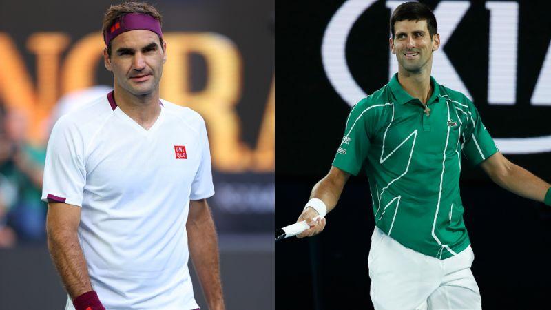 Roger Federer and Djokovic