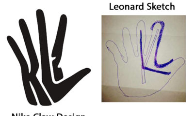 Nike Claw Design against Leonard Sketch