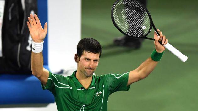 Novak celebration