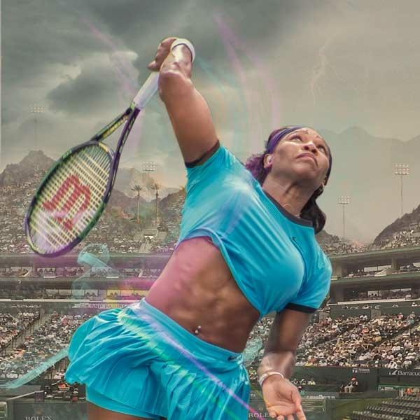 Serena displaying