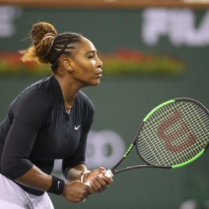 Serena in action