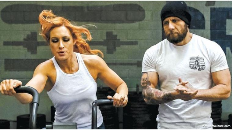 Becky Lynch training session
