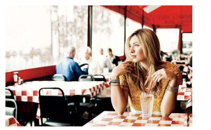 Mari Sharapova drink alone