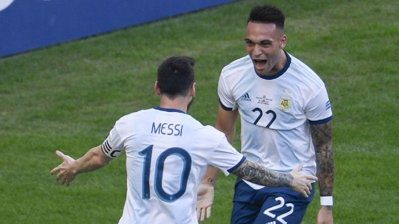 Martinez and Messi