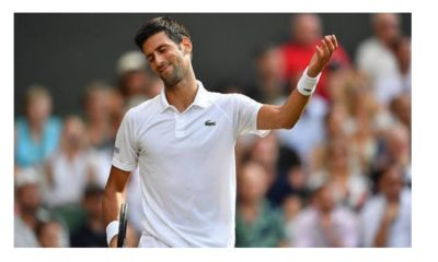 Novak Djokovic demonstrate