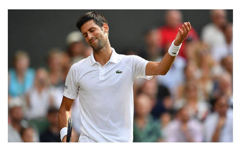 Novak Djokovic demonstrate