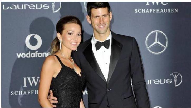 Novak Djokovic with Jelena Djokovic
