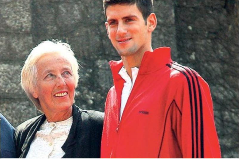 Novak Djokovic with mother