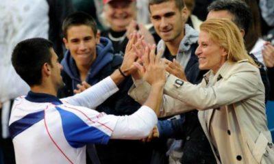 Novak and mother
