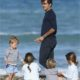 Roger Federer and the kids