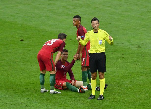 Ronaldo on pitch