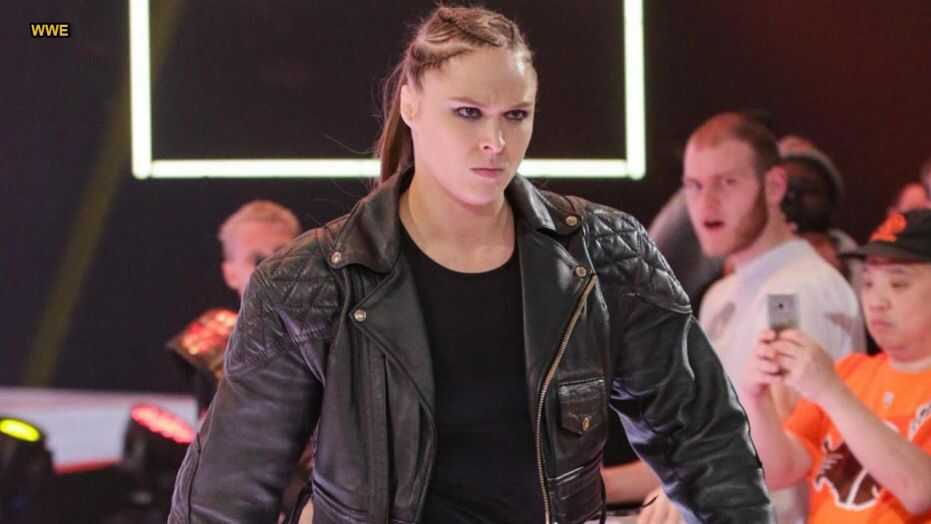 Ronda Rousey in ring