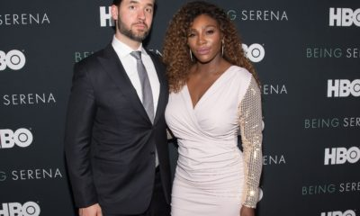 Serena Williams and Alexis Ohanian smile