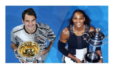 Serena Williams and Roger Federer won