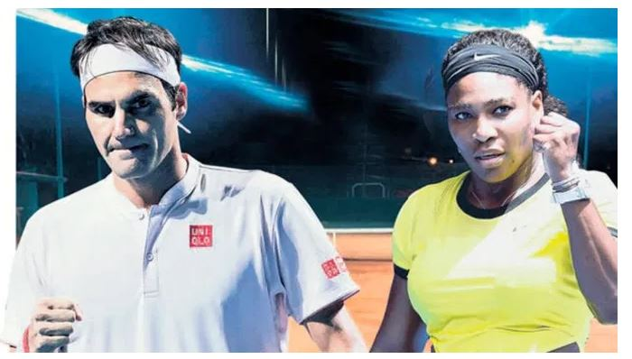 Serena Williams and Roger federer act