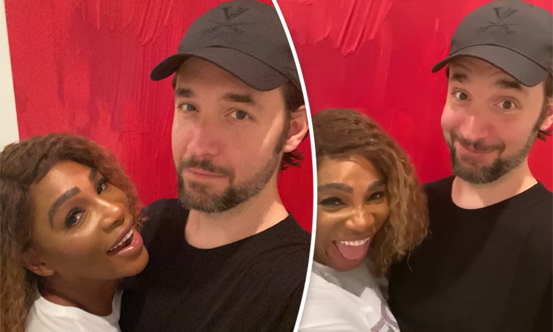 Serena Williams & husband laugh