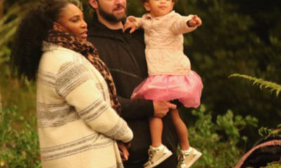 Serena Williams with husband