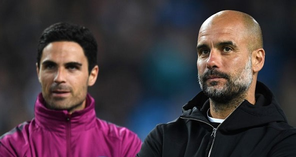 Arteta and pep Guardiola