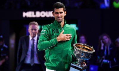 Novak Djokovic wins