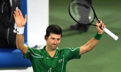 Novak celebration