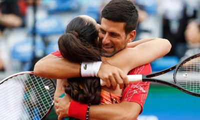 Novak embrace
