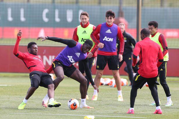 Pogba in training