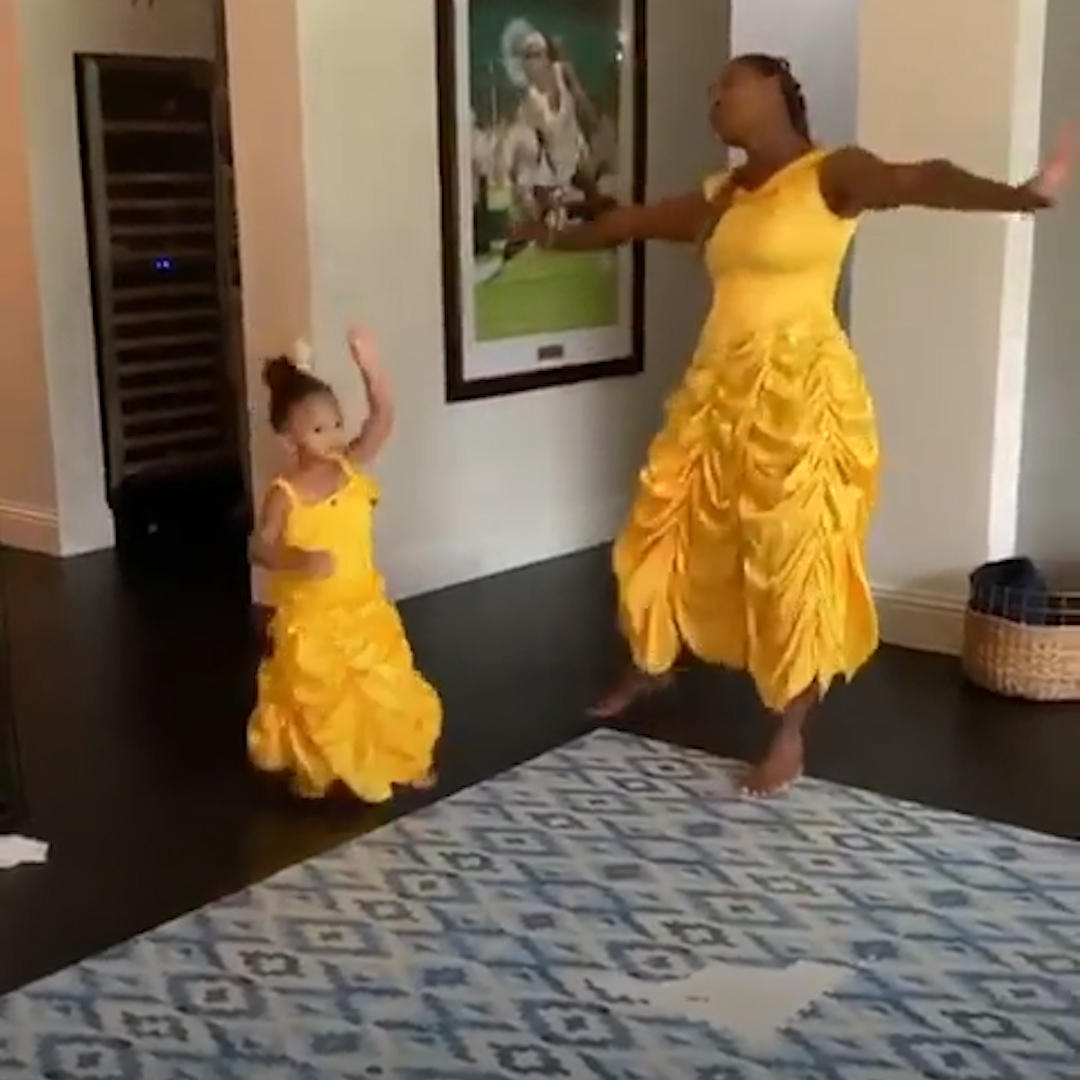 Serena Williams and daughter