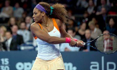 Serena Williams on court