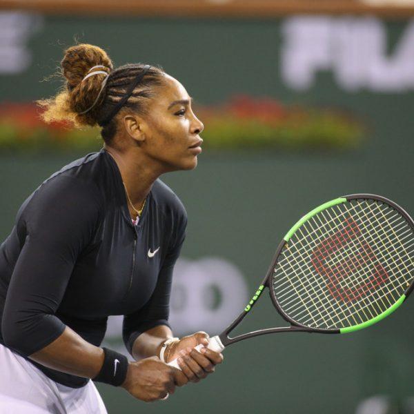 Serena in action