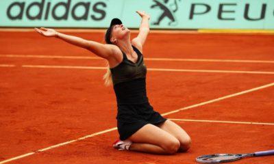 maria sharapovas career grand slam at the french open 2012