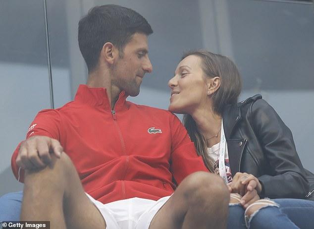 Novak Djokovic and Jelena