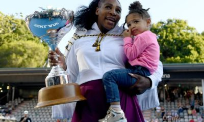 serena williams of the usa celebrates with daughter alexis