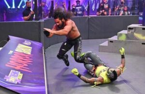 WWE Extreme Rules: Seth Rollins vomits at ringside after 'extracting' Rey Mysterio's eye