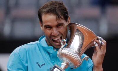 Rafeal Nadal in Italian open