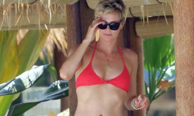 Charlize theron in red bikini