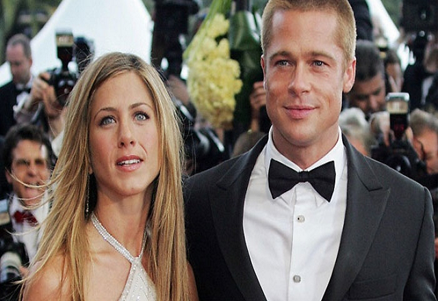 brad pitt and aniston