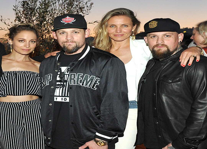 Joel Madden and Richie ,cameron diaz and ,beijin