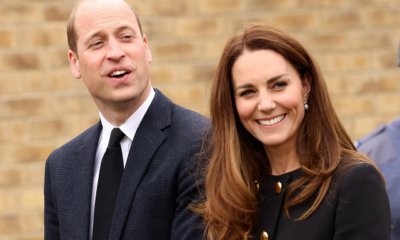 Kate MIddleton and Prince William hooks out